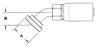 Split Flange (Code 61) 45° Bend