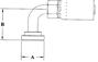 Split Flange (Code 61) 90° Bend