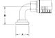 Split Flange (Code 61) 90° Bend GW