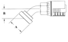 Split Flange (Code 62) 45° Bend