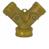 Solid Brass Hose Y with Shut-offs